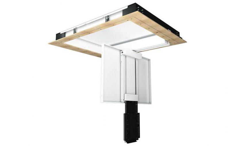CHRST — откидывающийся поворотный потолочный механизм для ТВ с телескопическим выдвижением