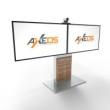 Xenon Wide Dual — Напольная стойка для двух экранов/ТВ